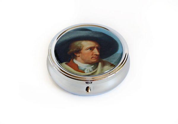 """Rundes Pillendöschen """"Goethe"""""""