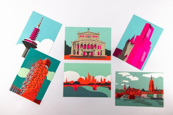 "Postkartenset ""Frankfurt"""