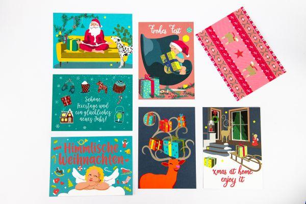 """Postkartenset """"Weihnachts-Pop-Karten"""""""